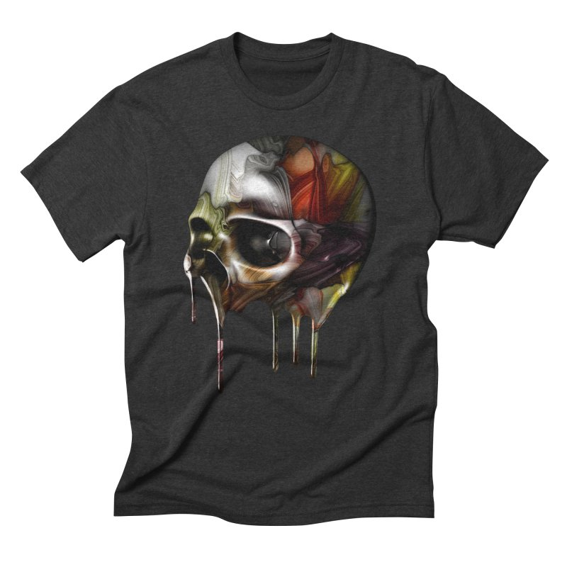 Syrupy Skull Men's Triblend T-Shirt by Joe Conde