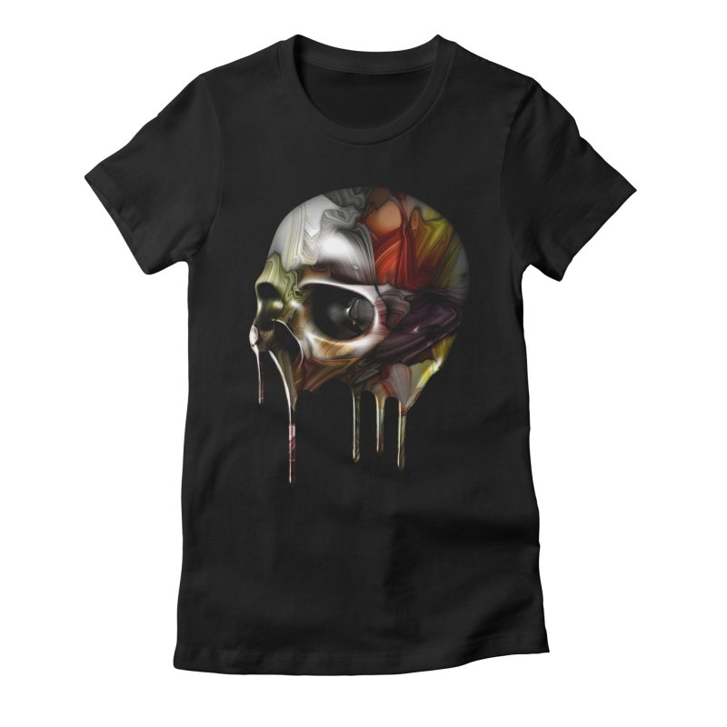 Syrupy Skull Women's Fitted T-Shirt by Joe Conde
