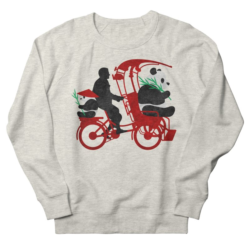 Rickshaw Pandas Men's Sweatshirt by Joe Conde