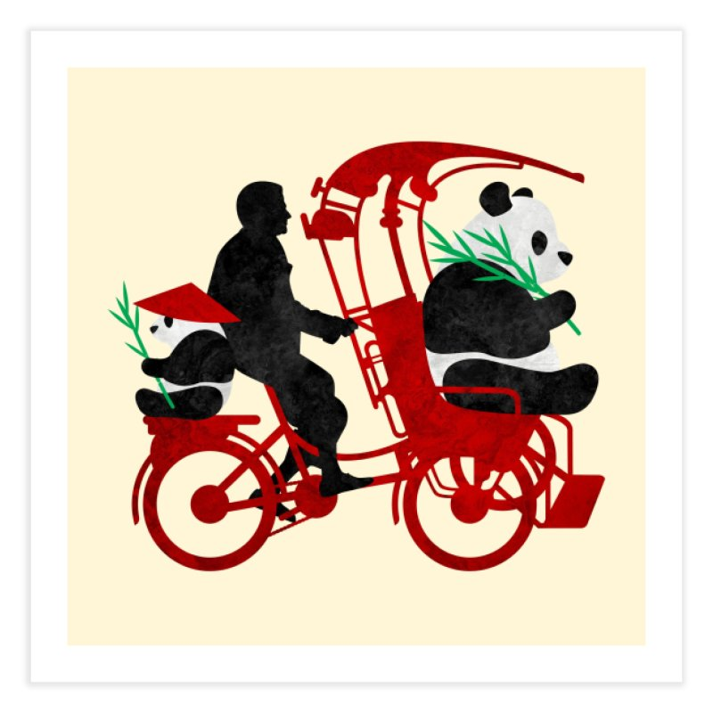 Rickshaw Pandas Home Fine Art Print by Joe Conde