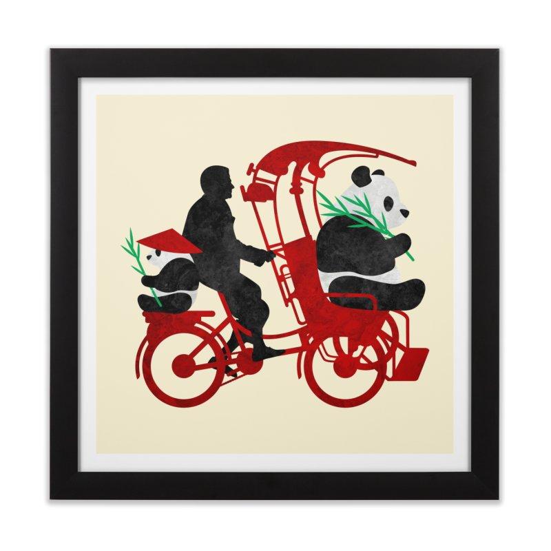 Rickshaw Pandas Home Framed Fine Art Print by Joe Conde