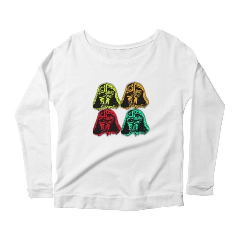 vaderen retro Women's Scoop Neck Longsleeve T-Shirt by joe's shop