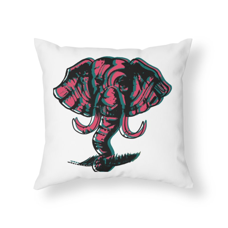 elefanta Home Throw Pillow by joe's shop