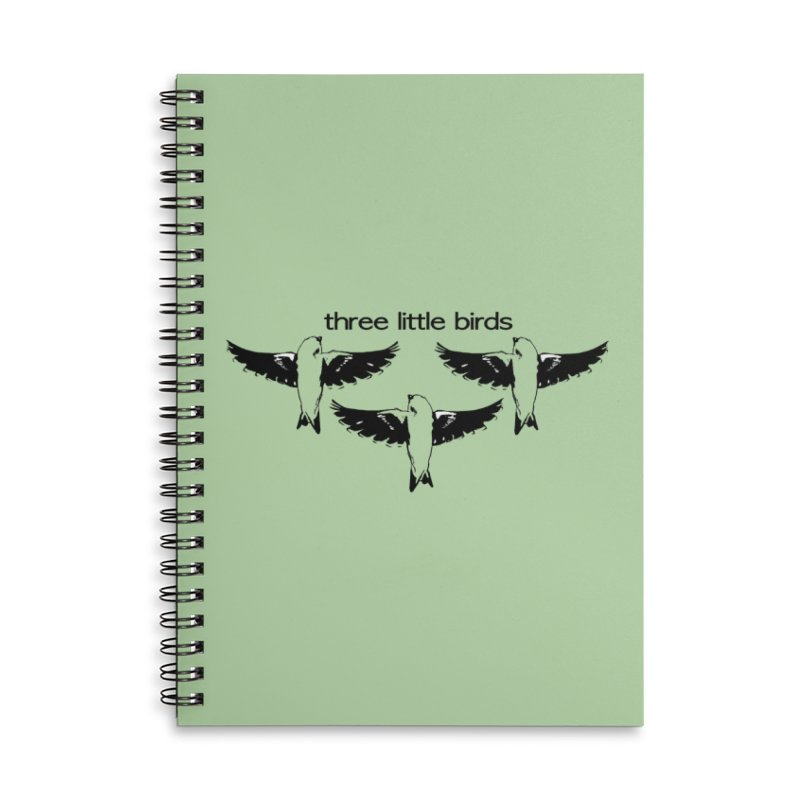 three little birds Accessories Lined Spiral Notebook by joe's shop