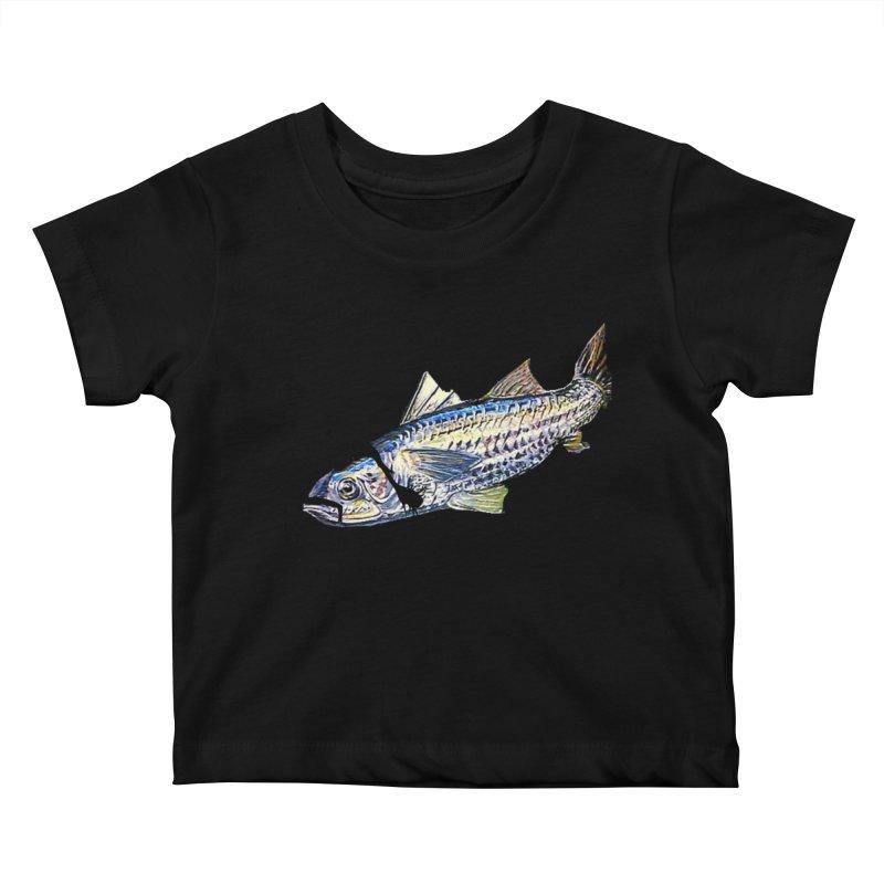 mullet Kids Baby T-Shirt by joe's shop