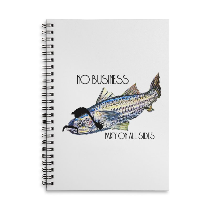 mullet Accessories Lined Spiral Notebook by joe's shop
