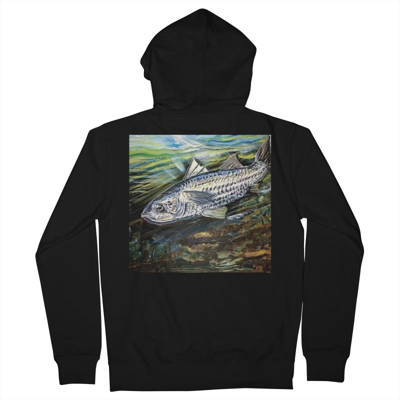 mullet is a fish Men's French Terry Zip-Up Hoody by joe's shop