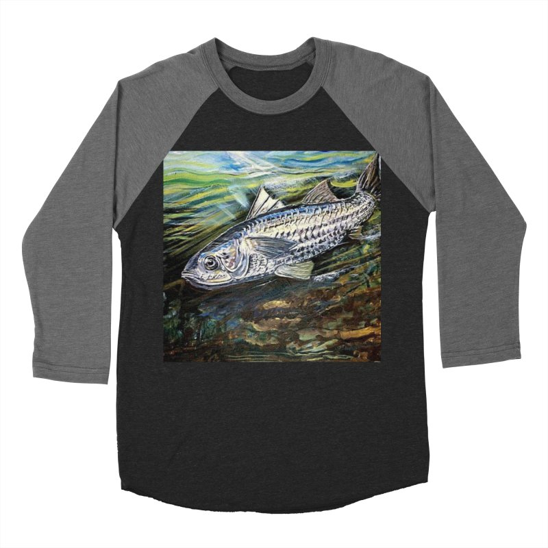mullet is a fish Men's Baseball Triblend T-Shirt by joe's shop