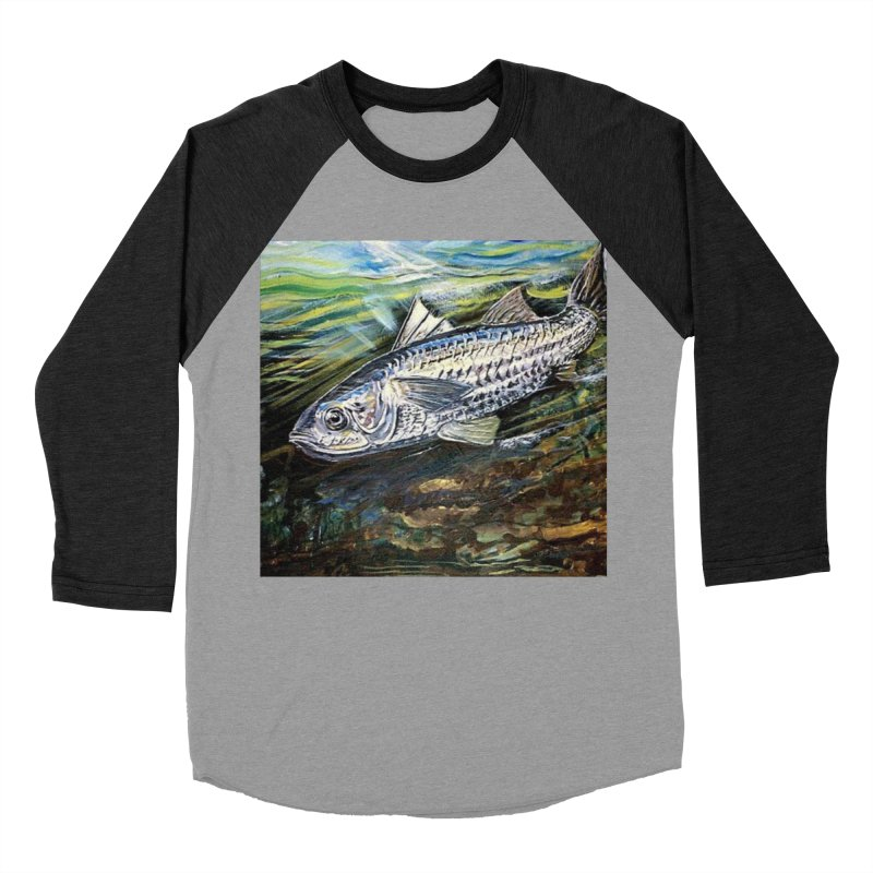 mullet is a fish Men's Baseball Triblend Longsleeve T-Shirt by joe's shop