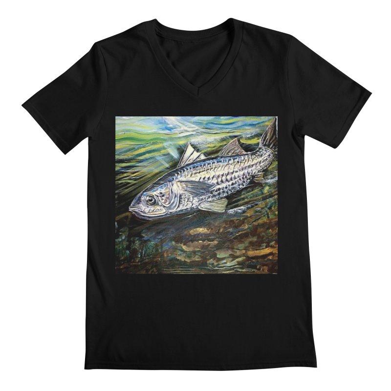mullet is a fish Men's Regular V-Neck by joe's shop