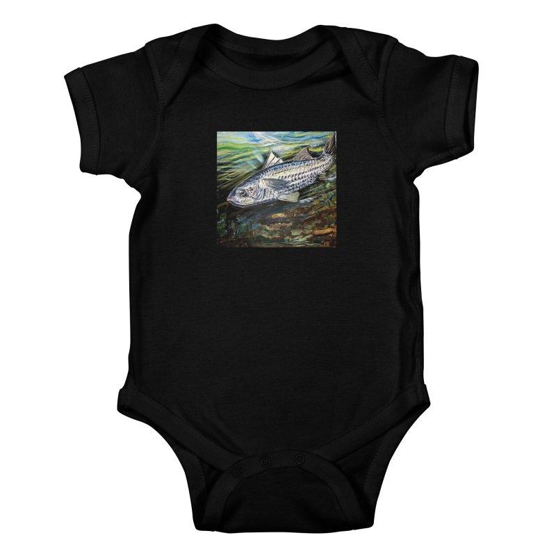 mullet is a fish Kids Baby Bodysuit by joe's shop