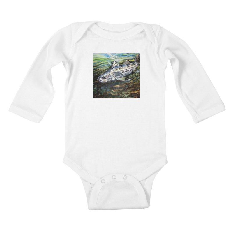 mullet is a fish Kids Baby Longsleeve Bodysuit by joe's shop
