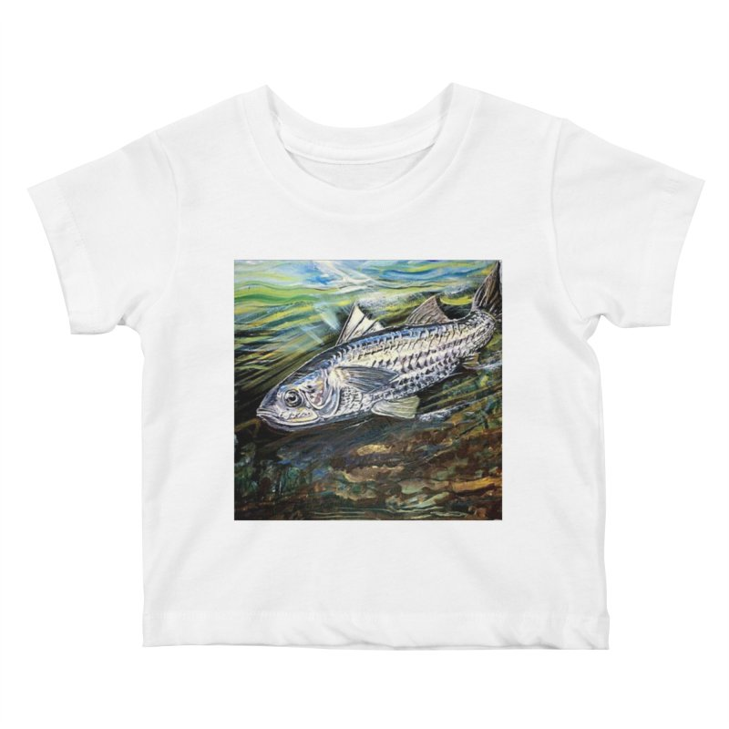 mullet is a fish Kids Baby T-Shirt by joe's shop