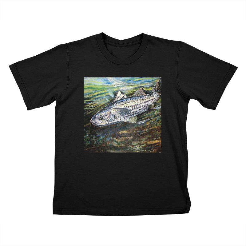 mullet is a fish Kids T-Shirt by joe's shop