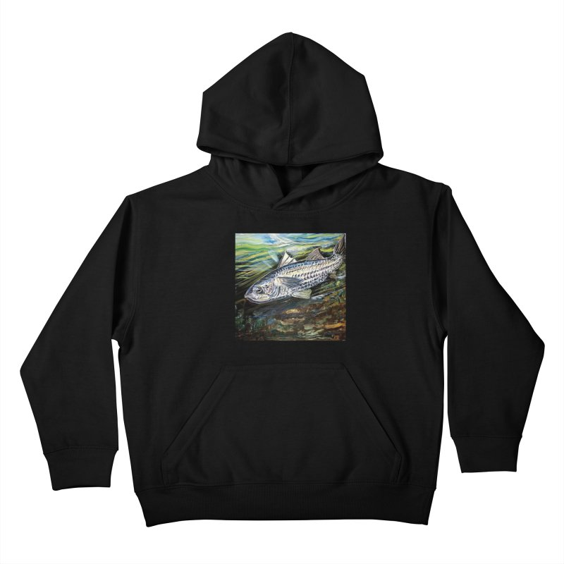 mullet is a fish Kids Pullover Hoody by joe's shop