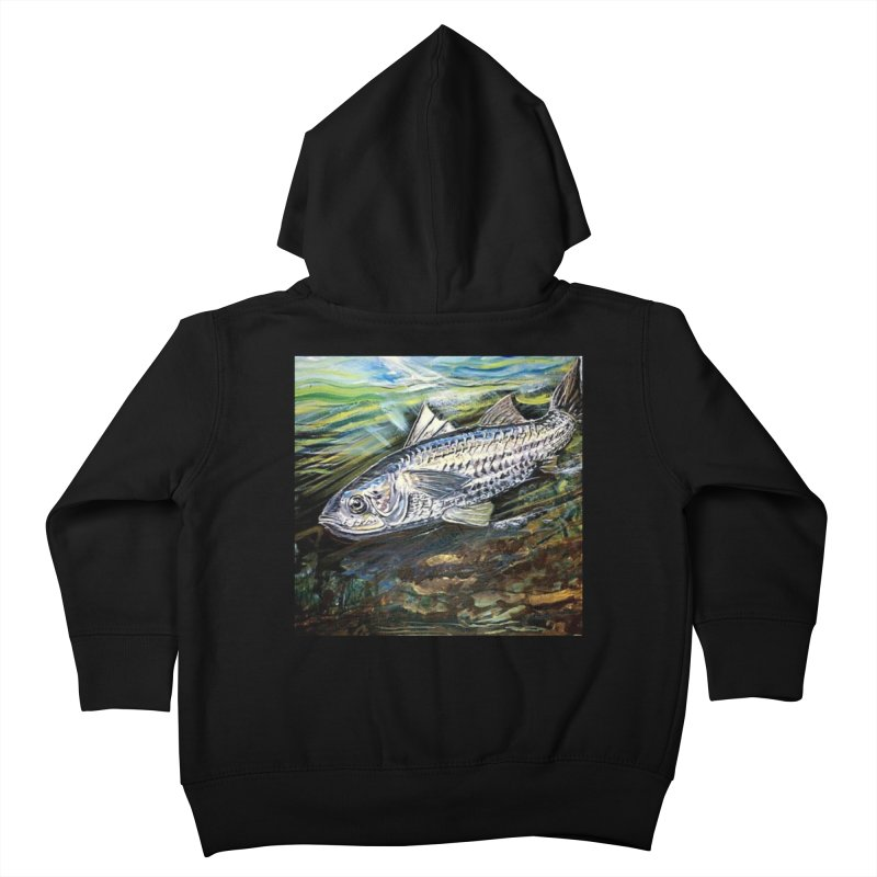 mullet is a fish Kids Toddler Zip-Up Hoody by joe's shop