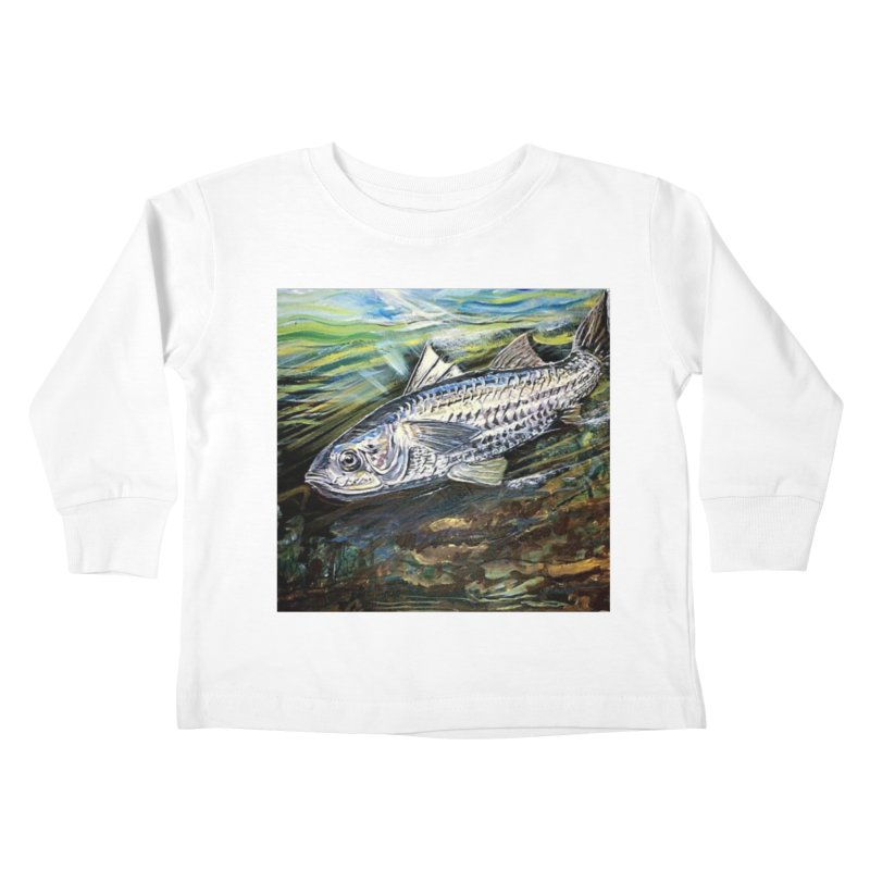 mullet is a fish Kids Toddler Longsleeve T-Shirt by joe's shop