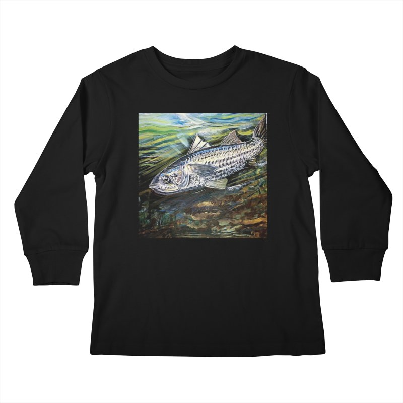 mullet is a fish Kids Longsleeve T-Shirt by joe's shop
