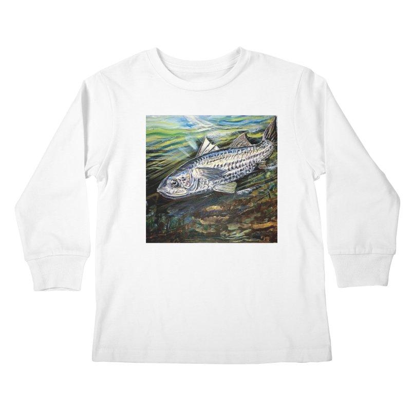 mullet is a fish Kids Longsleeve T-Shirt by joe's shop