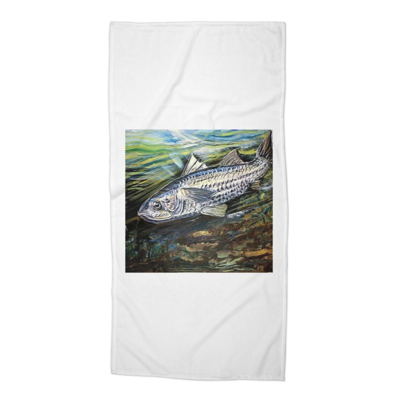 mullet is a fish Accessories Beach Towel by joe's shop