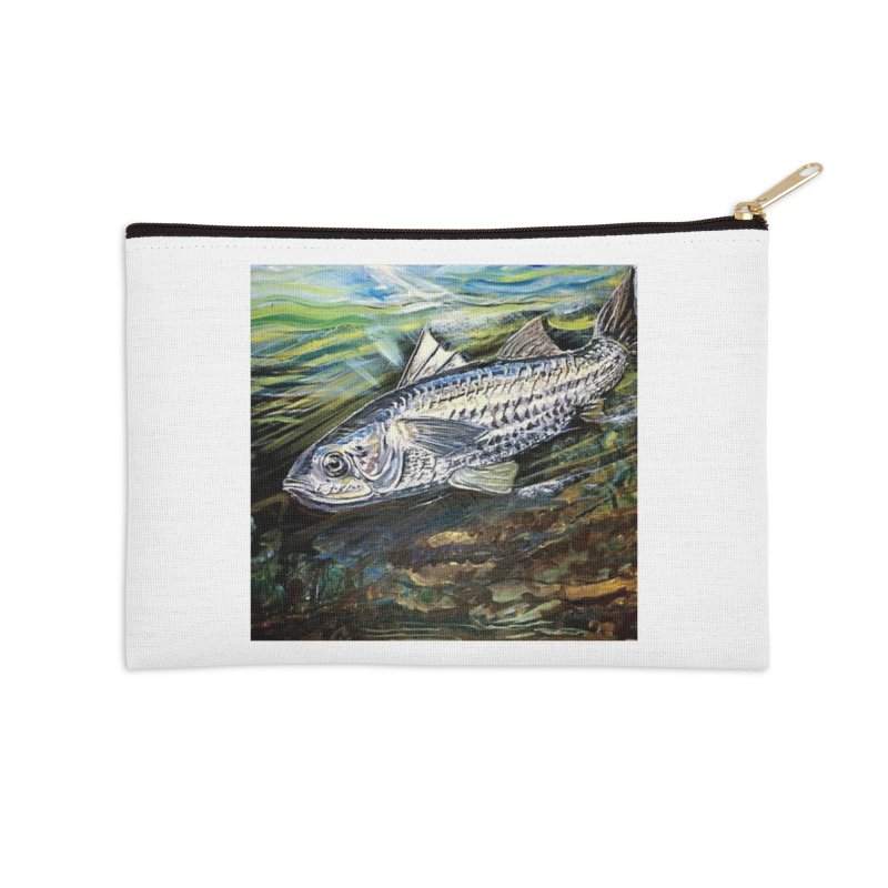 mullet is a fish Accessories Zip Pouch by joe's shop