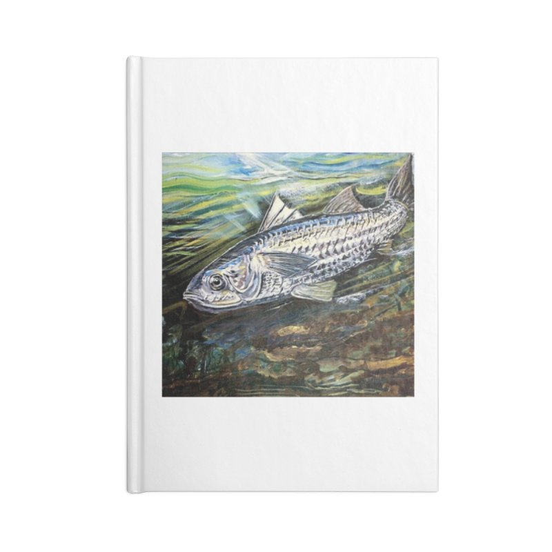 mullet is a fish Accessories Lined Journal Notebook by joe's shop