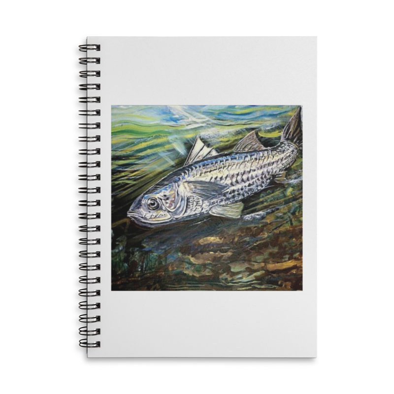 mullet is a fish Accessories Lined Spiral Notebook by joe's shop