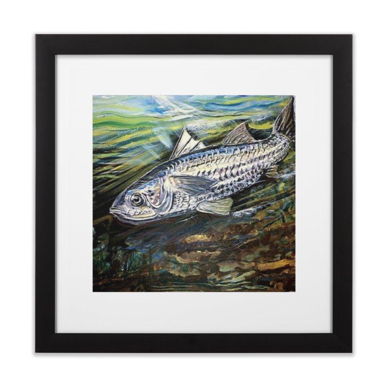mullet is a fish Home Framed Fine Art Print by joe's shop