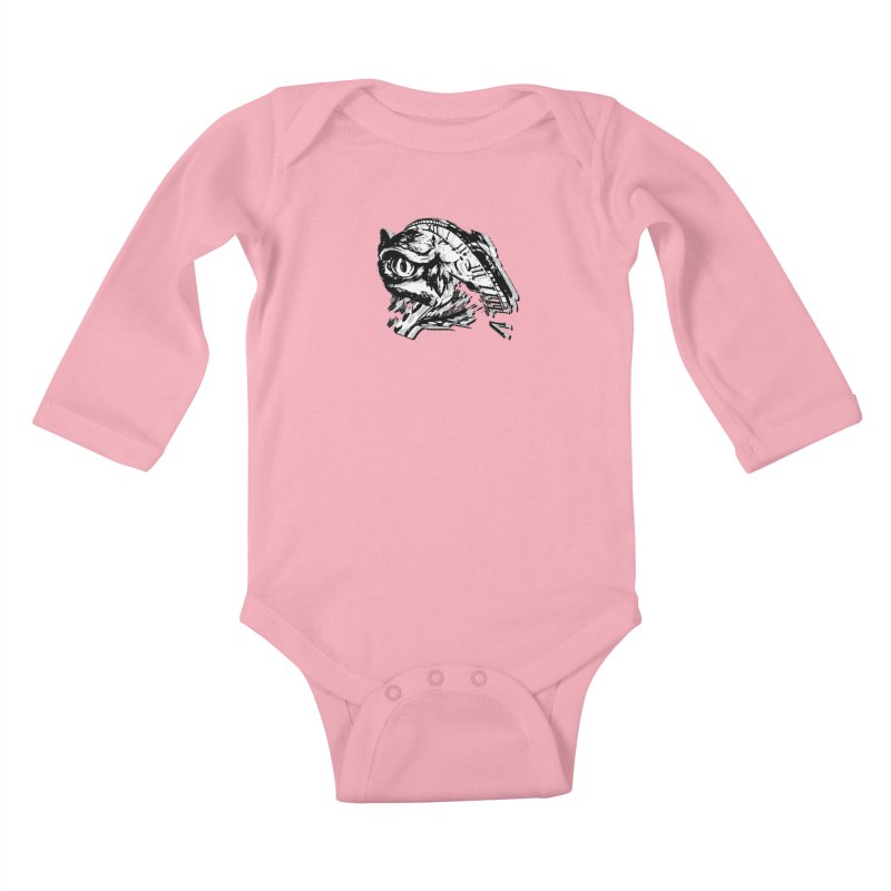 night owl Kids Baby Longsleeve Bodysuit by joe's shop