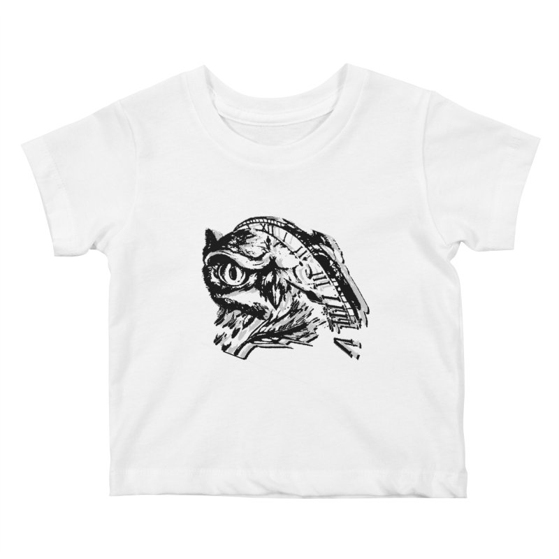 night owl Kids Baby T-Shirt by joe's shop