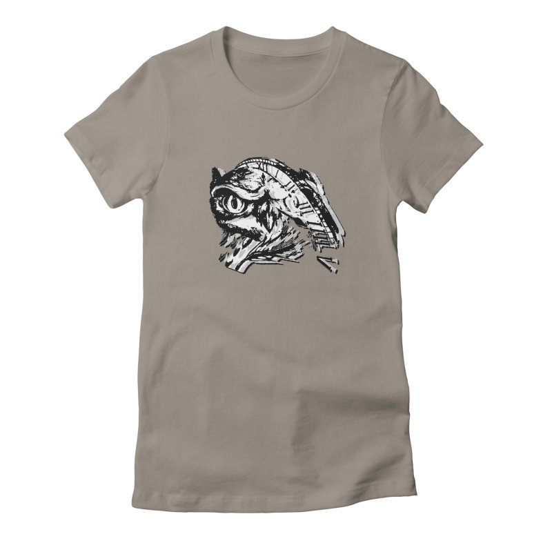 night owl Women's Fitted T-Shirt by joe's shop