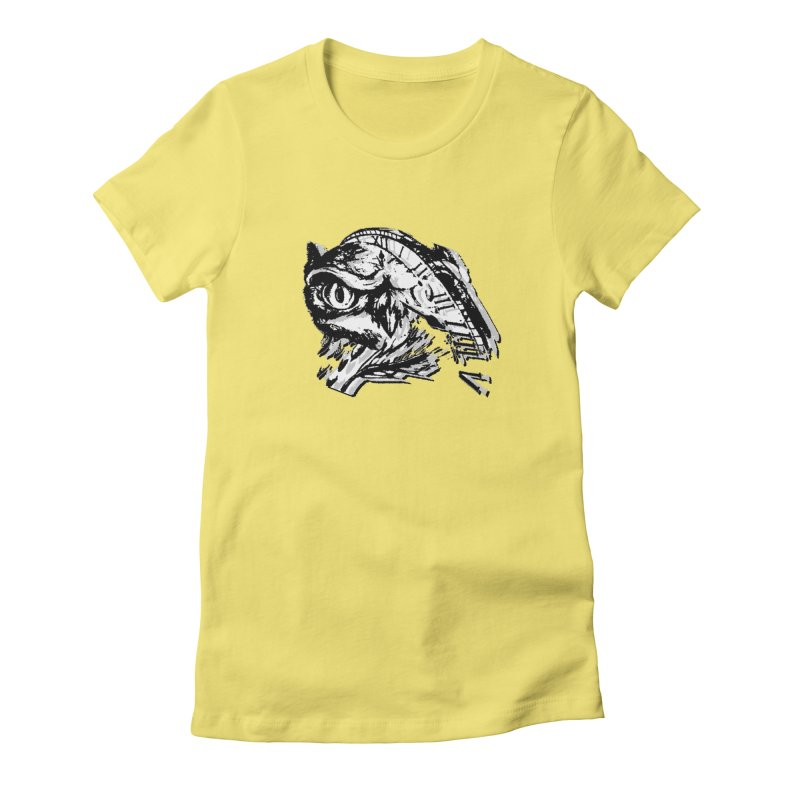 night owl Women's Fitted T-Shirt by joe's shop