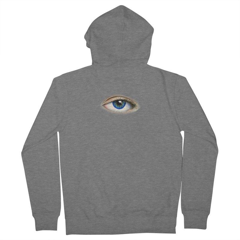 eye love Men's French Terry Zip-Up Hoody by joe's shop