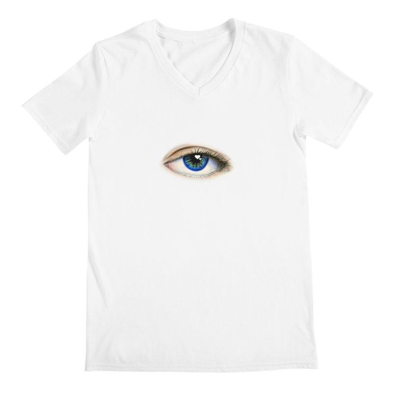 eye love Men's V-Neck by joe's shop
