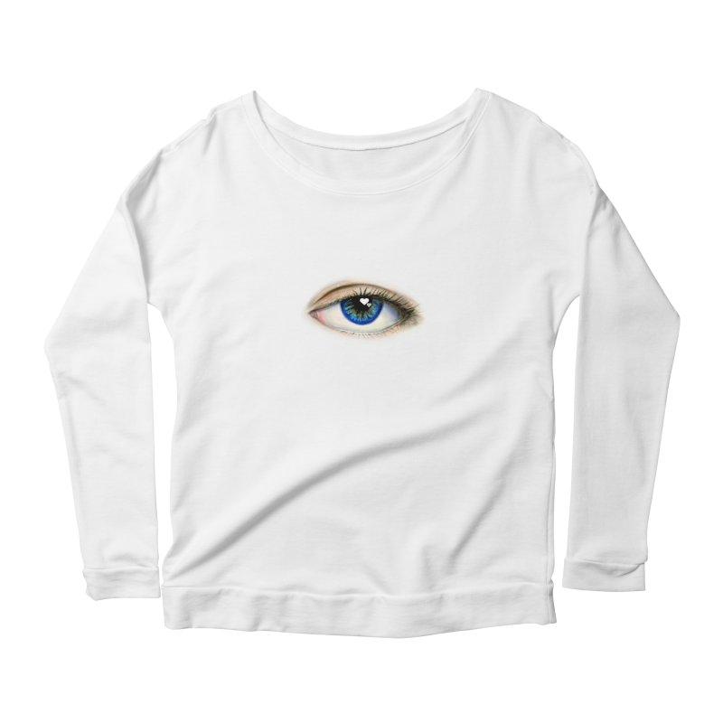 eye love Women's Scoop Neck Longsleeve T-Shirt by joe's shop
