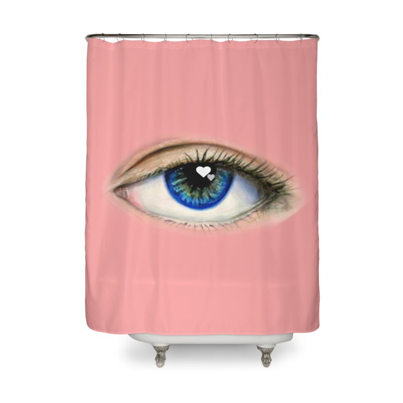 eye love Home Shower Curtain by joe's shop