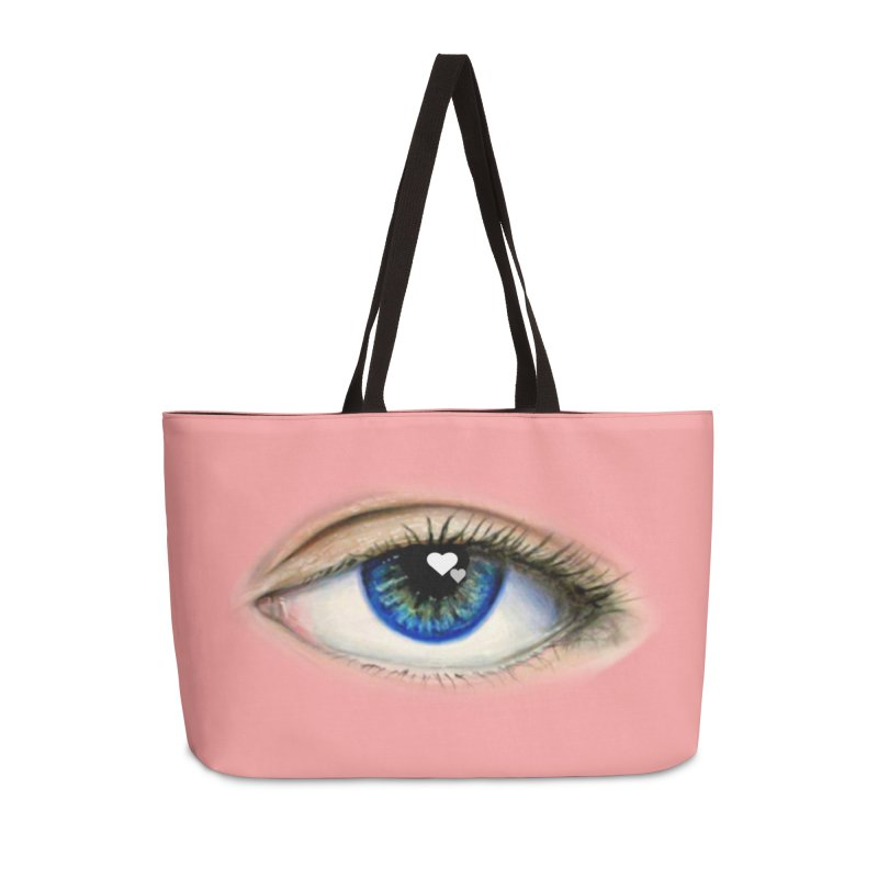 eye love Accessories Weekender Bag Bag by joe's shop