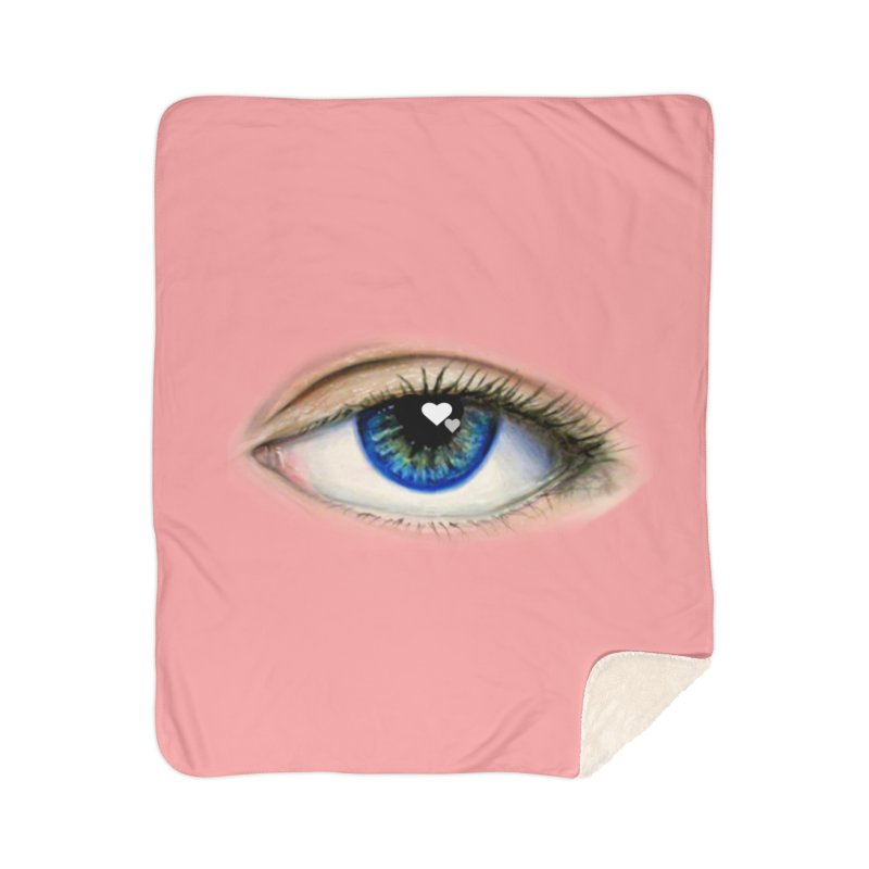 eye love Home Sherpa Blanket Blanket by joe's shop