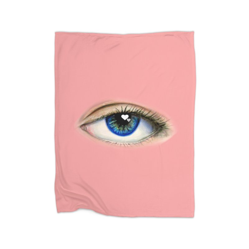 eye love Home Fleece Blanket Blanket by joe's shop