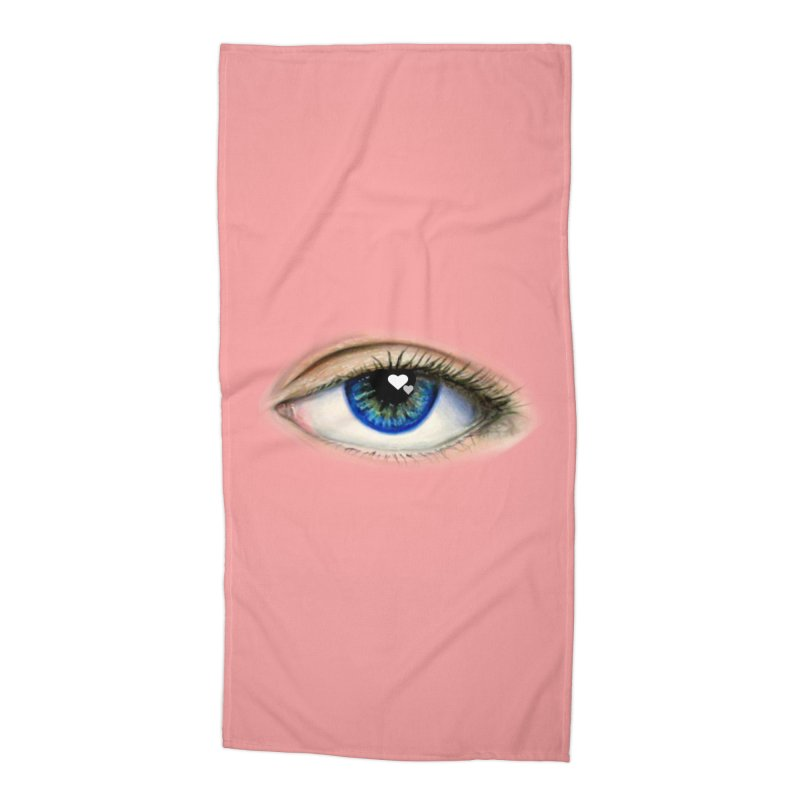 eye love Accessories Beach Towel by joe's shop