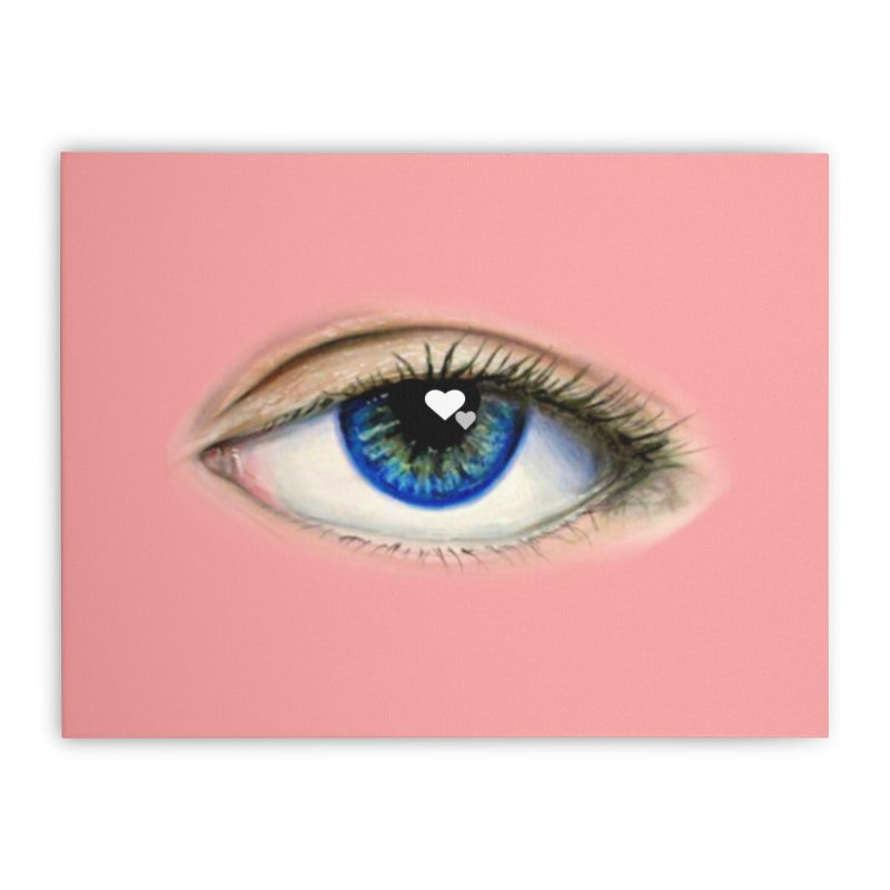 eye love Home Stretched Canvas by joe's shop