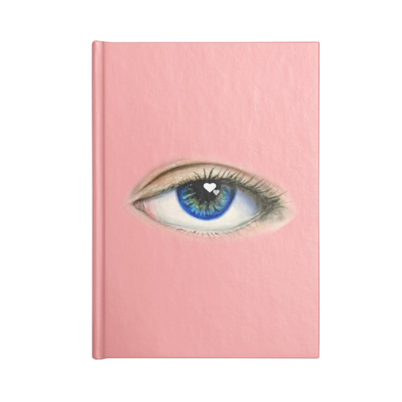 eye love Accessories Lined Journal Notebook by joe's shop