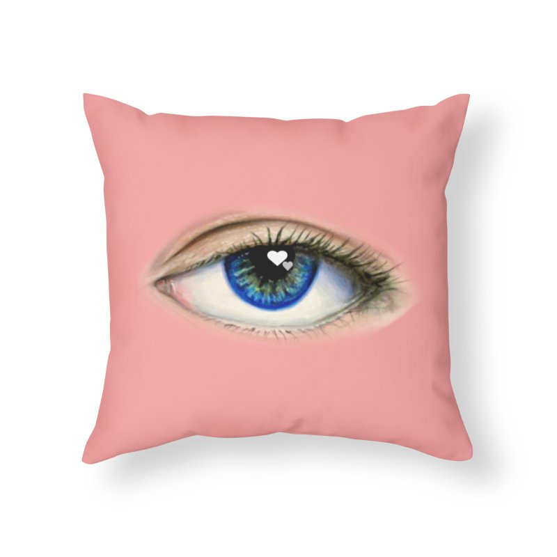 eye love Home Throw Pillow by joe's shop