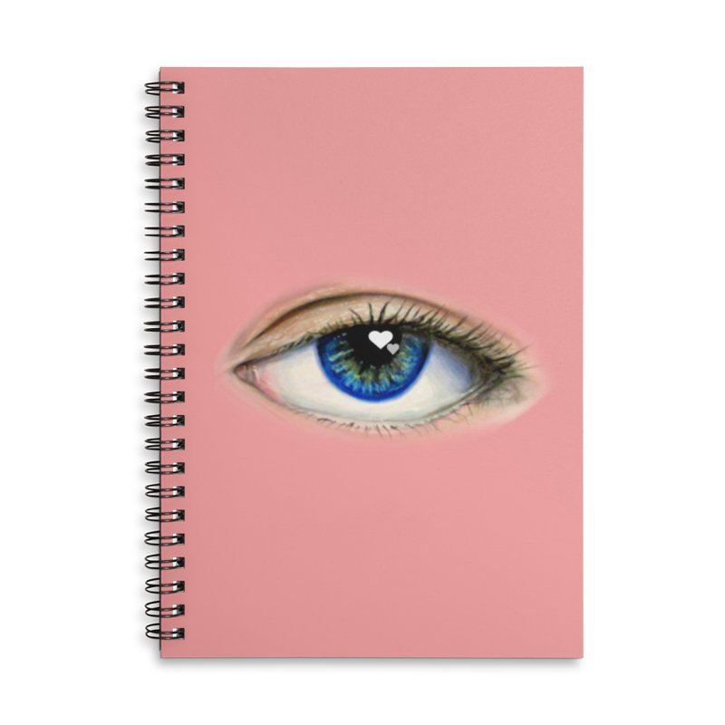 eye love Accessories Lined Spiral Notebook by joe's shop