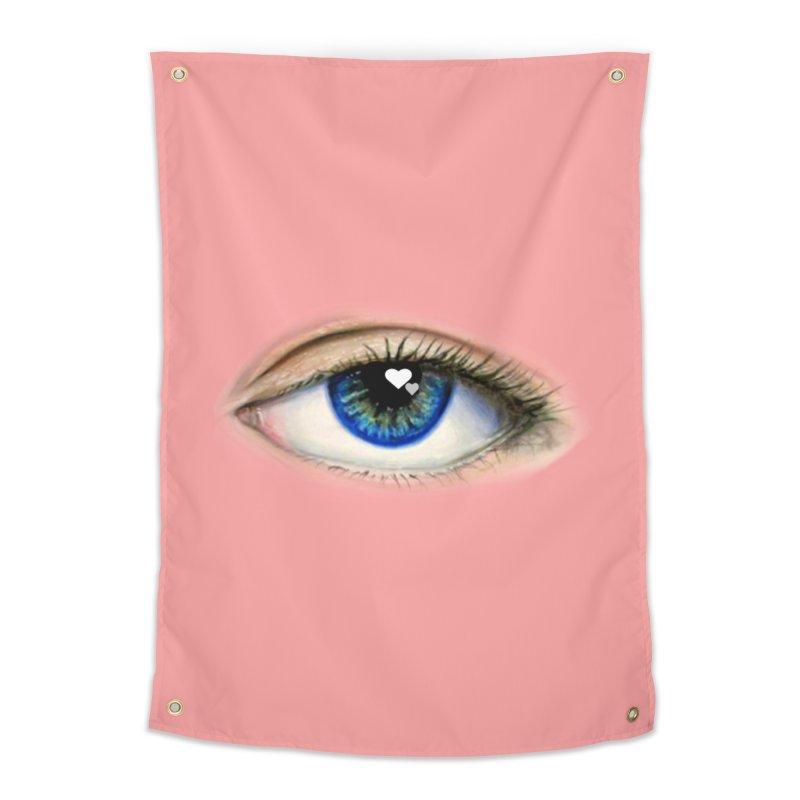 eye love Home Tapestry by joe's shop
