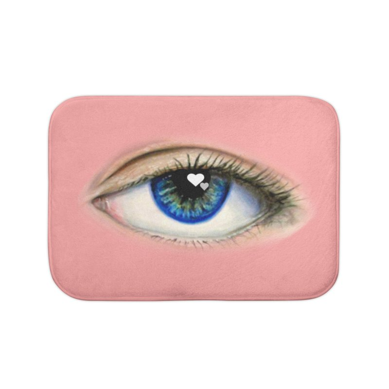 eye love Home Bath Mat by joe's shop