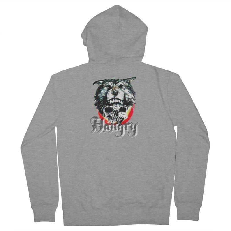 growl Men's French Terry Zip-Up Hoody by joe's shop