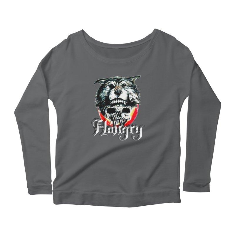 growl Women's Scoop Neck Longsleeve T-Shirt by joe's shop