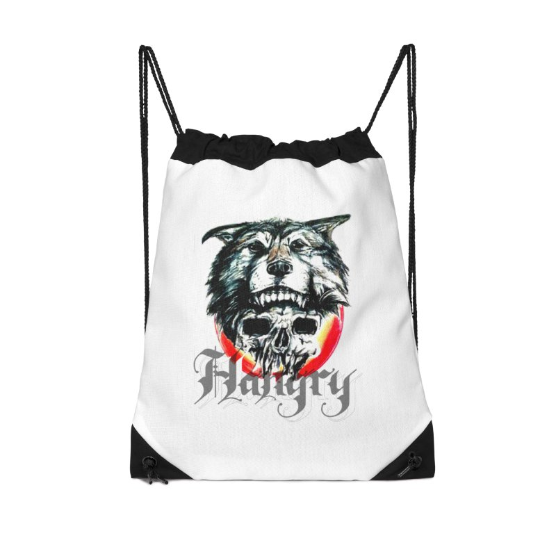 growl Accessories Drawstring Bag Bag by joe's shop