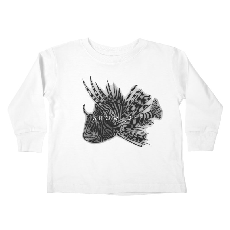 lion stripes Kids Toddler Longsleeve T-Shirt by joe's shop